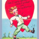 Vintage VALENTINE CARD Shoes STAND-UP Really Shine SHOE