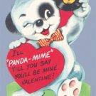 Vintage VALENTINE CARD Bear w/45 Record PANDA-MIME