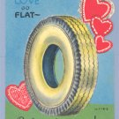 Vintage Valentine CAR TIRE Pop-Up RACE/RACING FAN