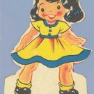 Vintage Valentine GIRL IN YELLOW DRESS May I Step into