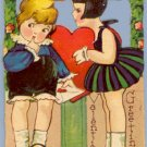 Vintage Valentine GIRL With BOB Germany STAND-UP 1920s