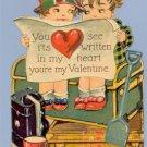 Vintage Valentine GERMANY Written in My Heart 1920s/30s