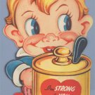 Vintage Valentine MUSTARD THE COURAGE Fold-Out 1940s