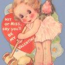 Vintage Valentine CROQUET Hit or Miss 1930s