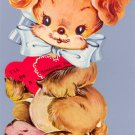 Vintage Valentine LONESOME PUP Mechanical Dog Card