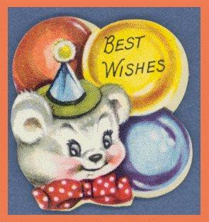 Vintage Birthday Gift Tag and Seal Set