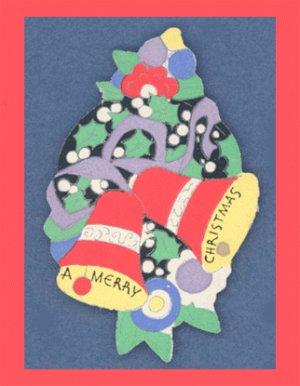 Vintage CHRISTMAS BELL Gift Tag/Seal Lot SCRAPBOOKING Bells