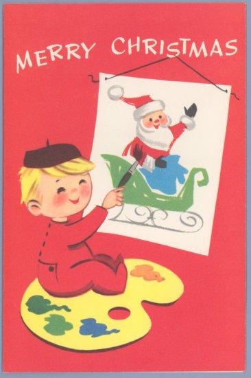 Vintage Christmas Card CORONATION Toycards ARTIST 1960S UNUSED