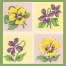 Vintage GIFT WRAP Wrapping Paper 1950s PANSY Floral