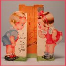 Vintage Valentine's Day Card 1940s AC CO Eye on You STAND UP