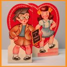 Vintage Valentine Card 1940s Figured Right A-MERI-CARD Graduate Cap