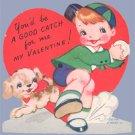Vintage Valentine DOG Ball GOOD CATCH for me