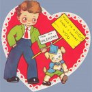 Vintage Valentine HEART This is a Sign 1940s STRIKE