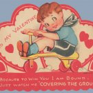 Vintage Valentine RIDING TOY Covering Ground 19430s/40s