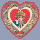 Vintage Valentine HEART Cat KITTEN 1910s ART NOUVEAU
