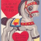 Vintage Valentine 1940s/1950s DONKEY Don't get BALKY