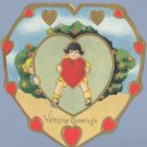 Vintage Valentine 1920s DECO HEART Love Me True