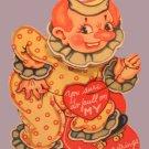 Vintage Valentine 3-D POP-UP Clown BOBBLE-HEAD 1940s