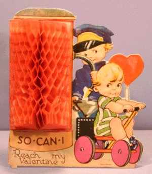 Vintage Valentine STAND-UP So-Can-I GERMANY Honeycomb
