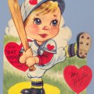 Vintage Valentine BASEBALL You Bat 1000 With Me 1950s