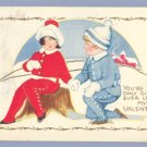 Vintage Postcard VALENTINE Carrington 1910s SNOW SCENE