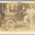 Vintage Real Photo Postcard FORD MODEL T COUPE Car RP circa 1920s