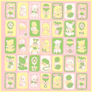 Vintage GIFT WRAPPING PAPER Wrap 1960s/1970s Toys BABY SHOWER