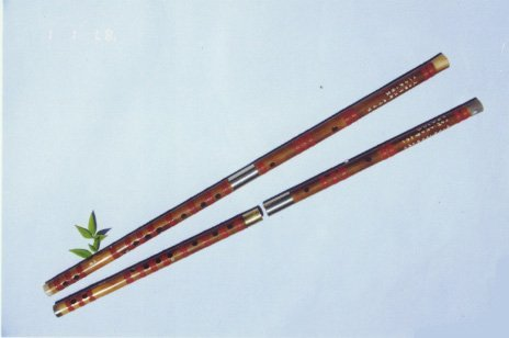 JY-109-Special Bass White Bamboo Flute W/T Double Copper Joints
