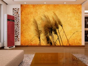 Wall Mural Wall Decor Wall Art--Reed Catkins