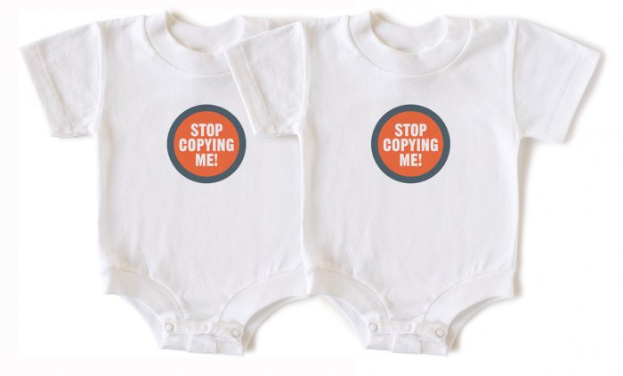 Wry Baby 'Stop Copying Me' Twin Set, 6-12 months
