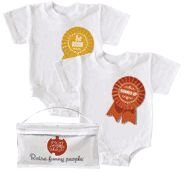 Wry Baby 'First Born, Runner Up' Ribbon Twin Set, 6-12 months