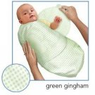 Kiddopotamus SwaddleMe blanket in Green Gingham fabric - Small