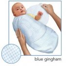 Kiddopotamus SwaddleMe blanket in Blue Gingham - Small