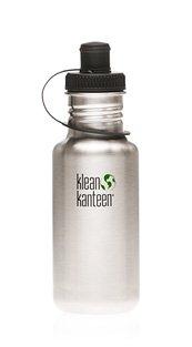 Klean Kanteen 18 oz Original Stainless Steel water bottle with sports cap