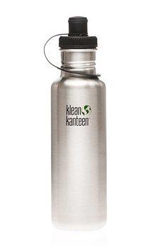 Klean Kanteen 27 oz Original Stainless Steel water bottle with sports cap