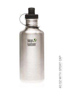 Klean Kanteen 40 oz Original Stainless Steel water bottle with sports cap
