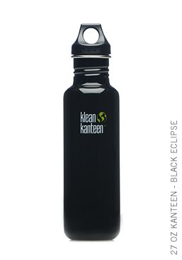 Klean Kanteen 27 oz BLACK ECLIPSE Stainless Steel water bottle with sports cap