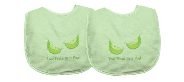 Two Peas in a Pod - Double bib set for twins by iPlay