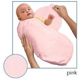 Kiddopotamus SwaddleMe blanket in Pink Microfleece - Large