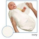 Kiddopotamus SwaddleMe blanket in Ivory Microfleece - Large
