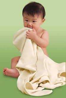 Kiddopotamus SwaddleSet blanket and matching cap - Certified Organic