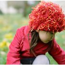 Zooni handmade hat FIRECRACKER Red - Small