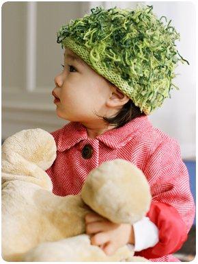 Zooni handmade hat KATE's MOSS Green - Medium