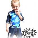 BANZ 2 pc Sun Protective Suit - Blue Camo - Size 0