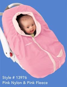 Kiddopotamus Cozy Up baby carseat cover - PINK