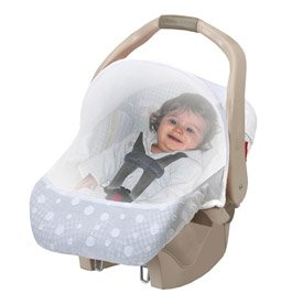 Easy Mesh Sun + Bug Carseat protection - WHITE