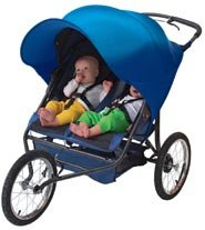 Kiddopotamus Double Ray Shade for double strollers - NAVY