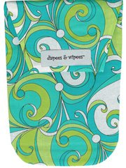 Diapees n Wipees pouch - TURQUOISE GROOVY
