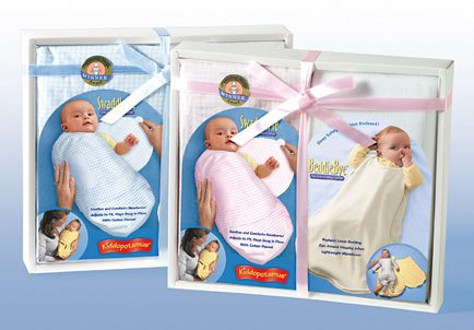 Kiddopotamus SwaddleMe + BeddieBye Gift Set - BLUE