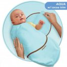 Kiddopotamus SwaddleMe blanket in AQUA Bamboo - Small